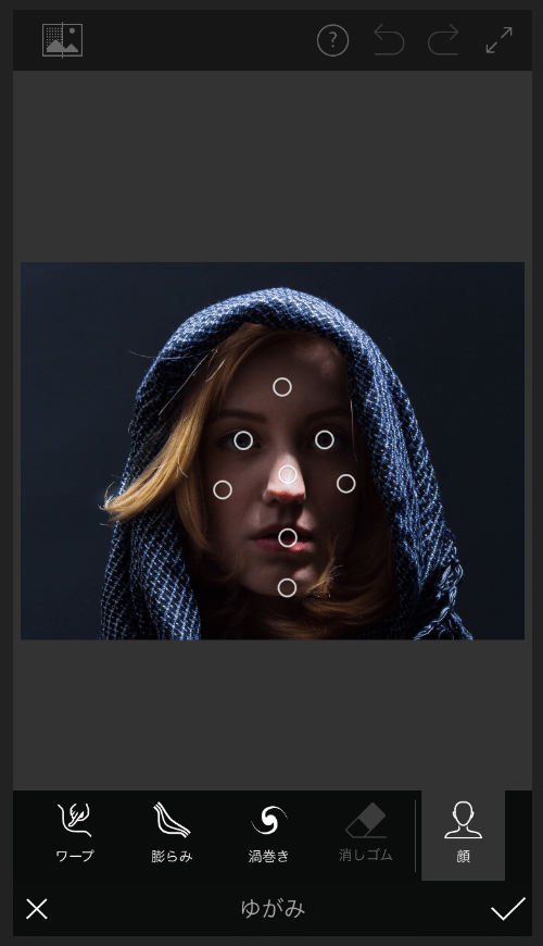 Adobe Photoshop Fix ゆがみの顔ツール