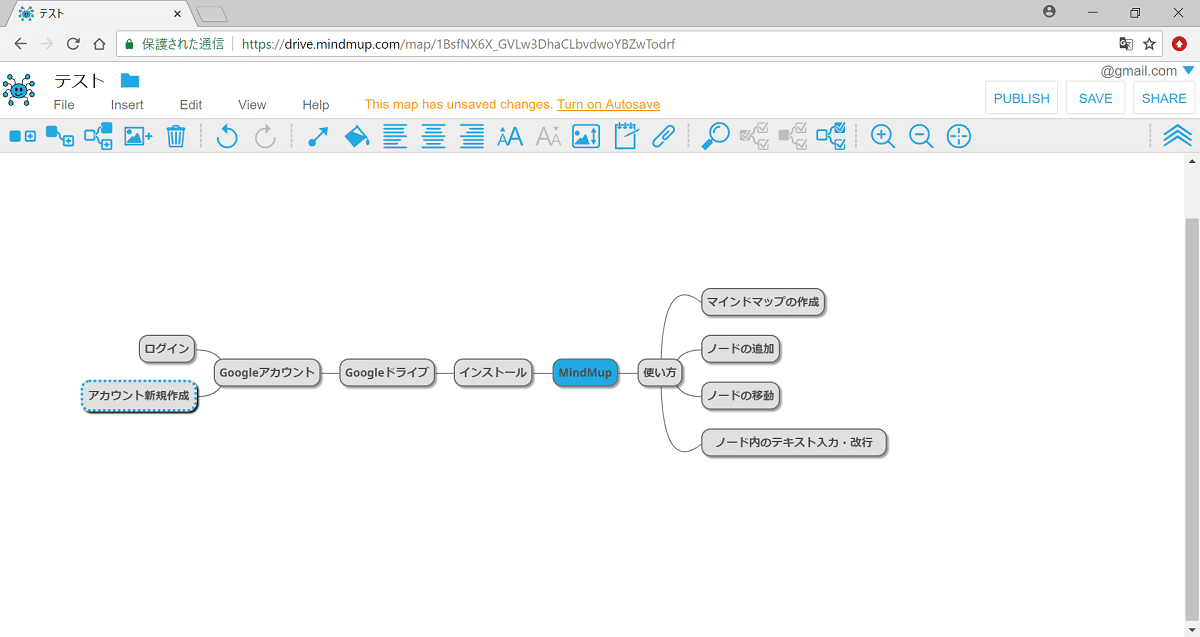 MindMup ツール画面