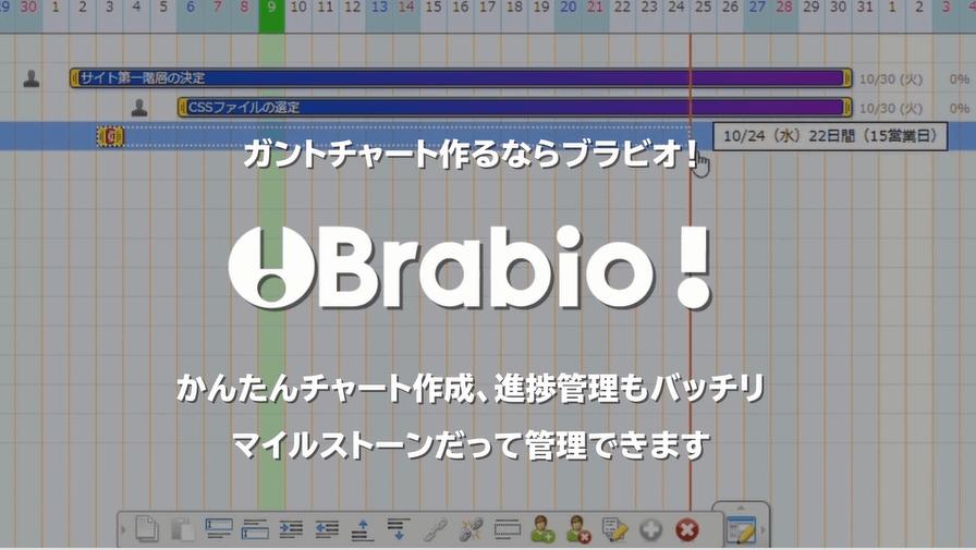 Brabio,ガントチャート,管理